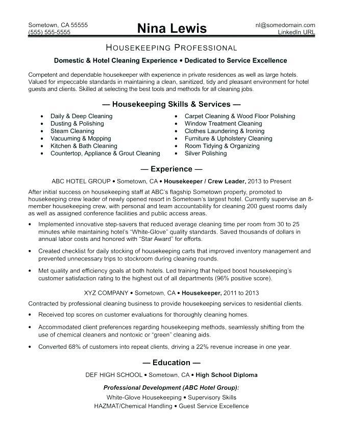 11 Cool Resume For Cleaning Job for Images