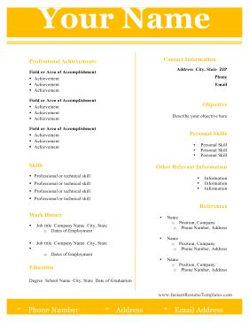 11 Fresh Two Column Resume Template with Pictures