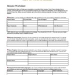 12 Top Blank Resume Worksheet by Pics