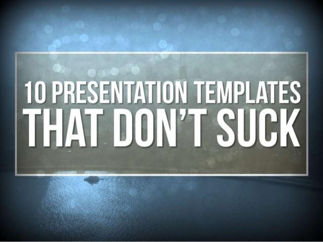 13 Awesome Killer Powerpoint Templates by Design