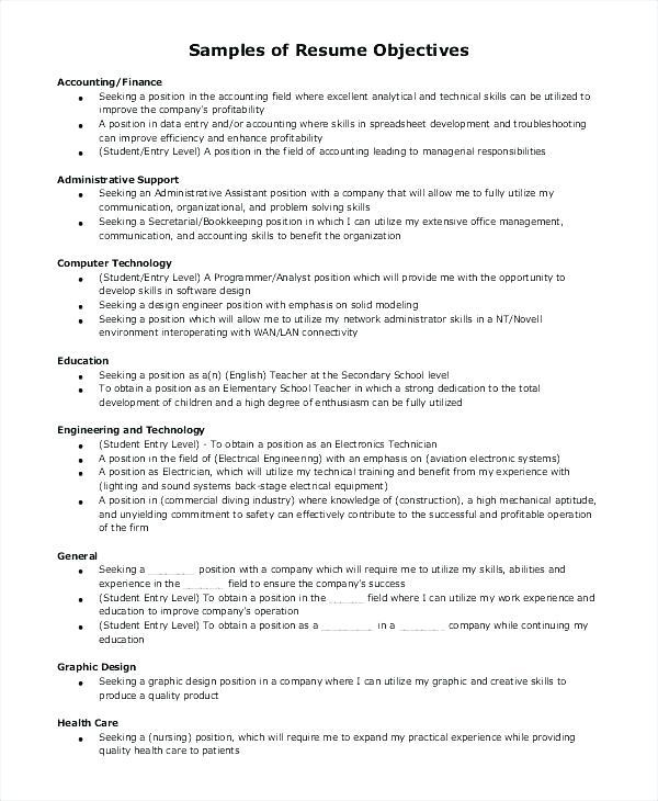 14 Great General Resume Objective Examples by Ideas