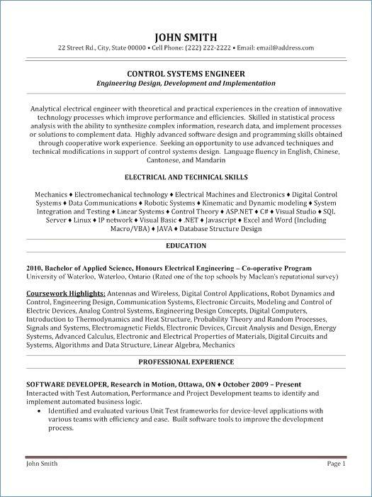 15 Awesome Entry Level Software Engineer Resume for Pics