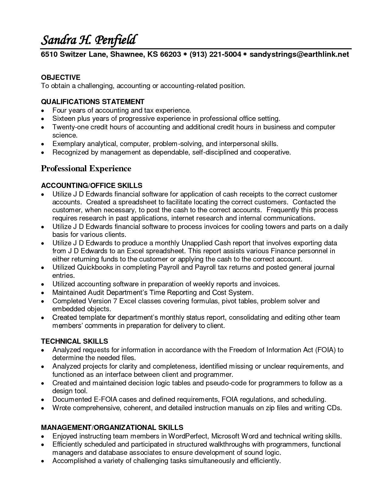 15 Beautiful Accounts Receivable Resume Objective by Ideas