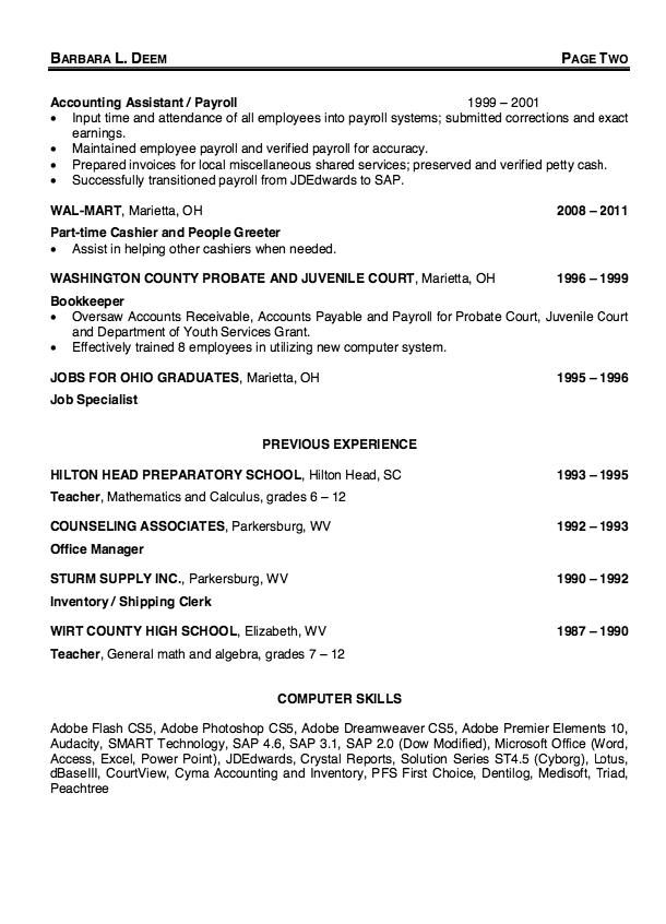15 New Payroll Specialist Resume by Ideas