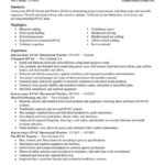 16 Beautiful Hvac Resume Sample No Experience for Graphics