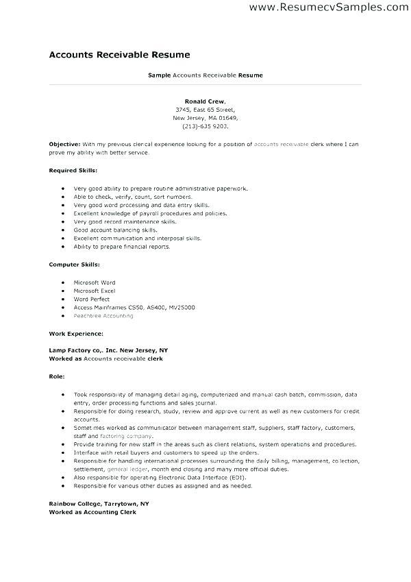 16 Stunning Accounts Receivable Resume Objective with Pictures