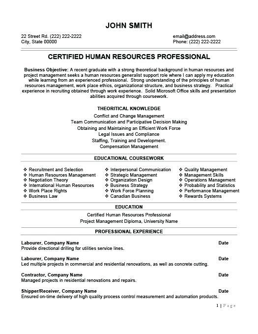 19 Cool Sample Hr Generalist Resume with Design