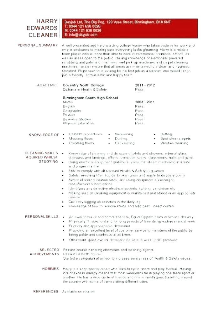 19 Lovely Resume For Cleaning Job by Graphics