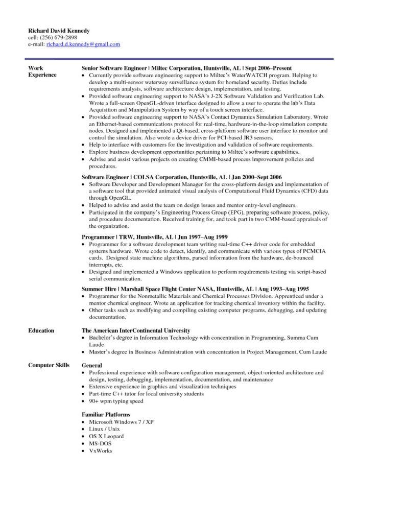 20 Lovely Entry Level Software Engineer Resume by Design