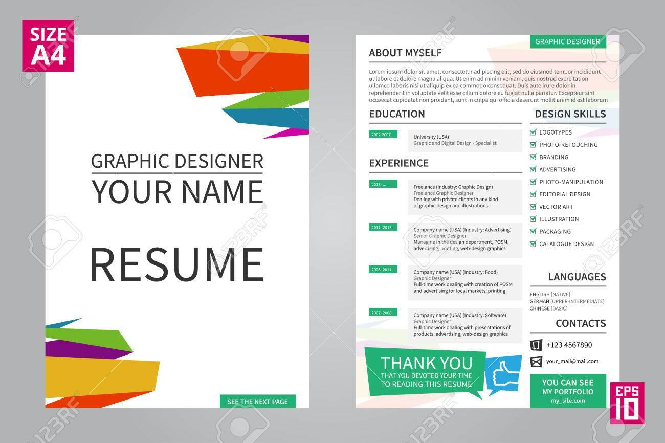 20 Nice Resume Front Page by Ideas