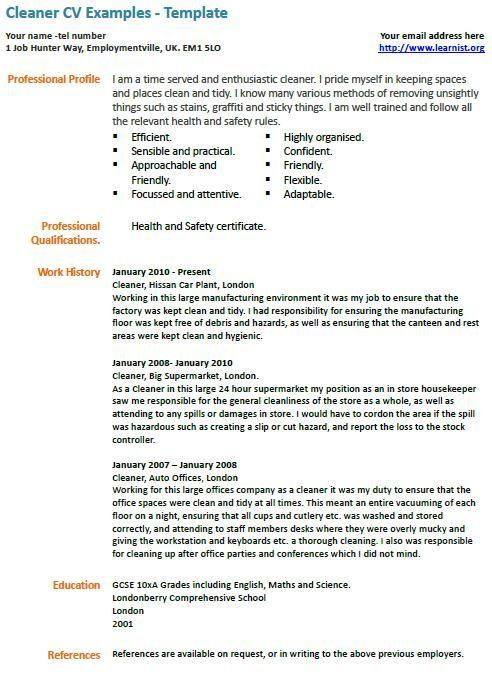21 New Resume For Cleaning Job with Gallery