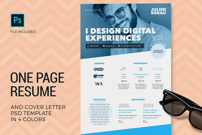22 Lovely Envato Resume Template for Design