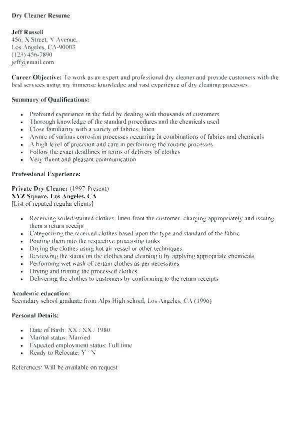 23 Great Resume For Cleaning Job for Images