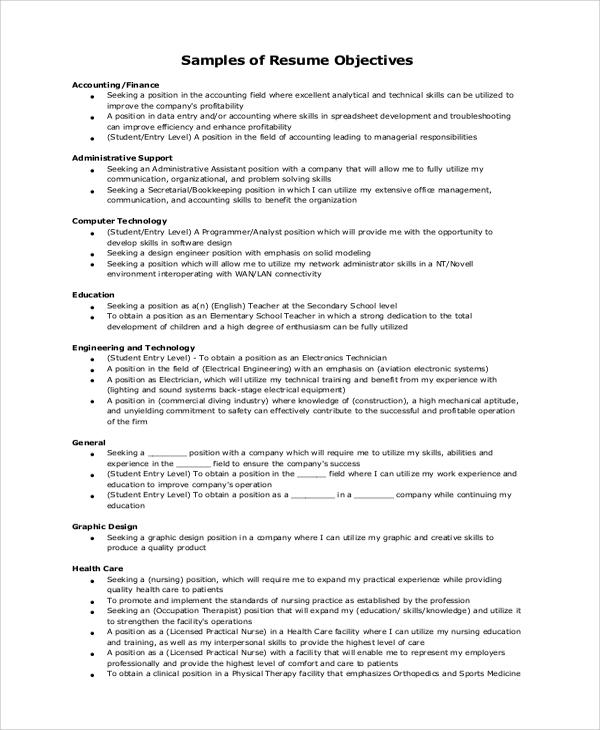 23 Nice General Resume Objective Examples with Gallery