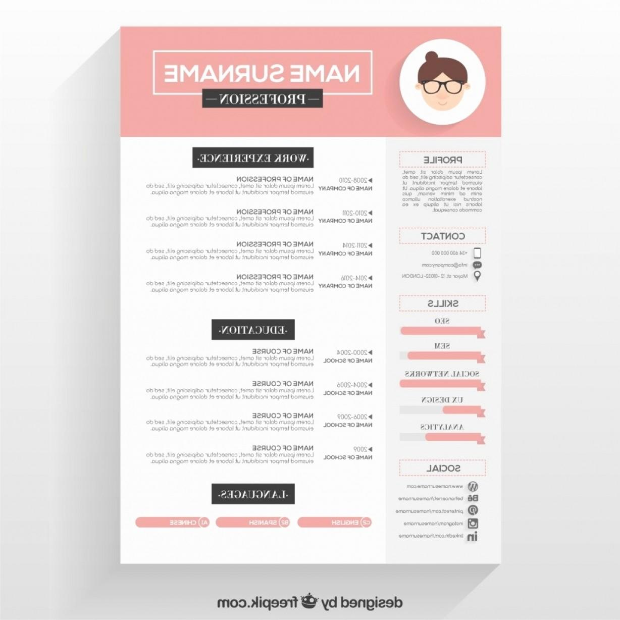 24 Beautiful Blogger Resume Template for Pics
