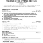 24 Best Truck Driver Resume by Pics