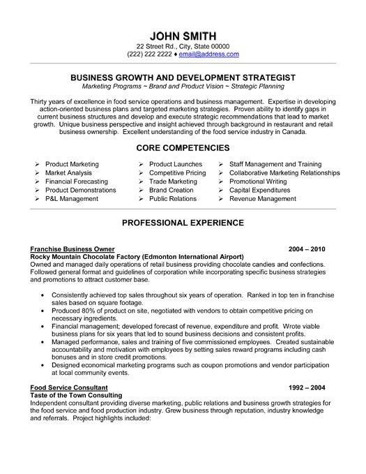 24 Fresh Small Business Owner Resume by Graphics