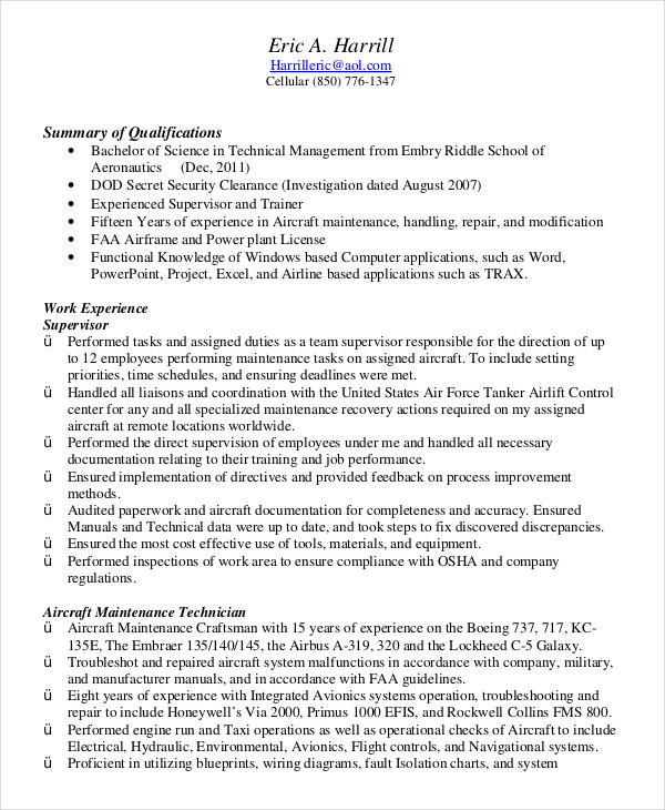 25 Best Military Resume Template Microsoft Word with Design