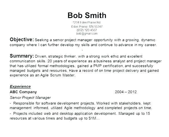 26 Beautiful General Resume Objective Examples for Pics