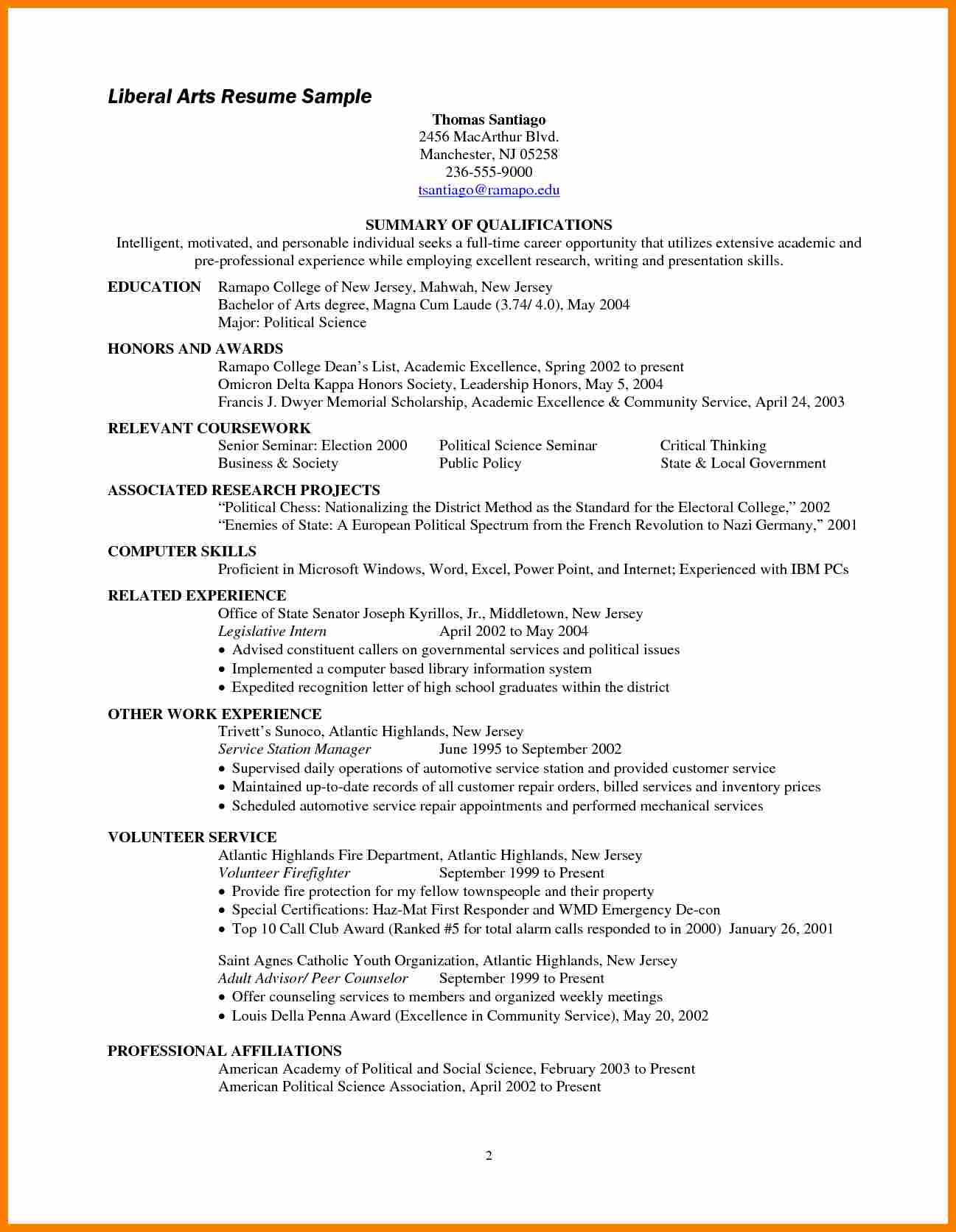 26 Best Associate Degree Resume Sample for Images
