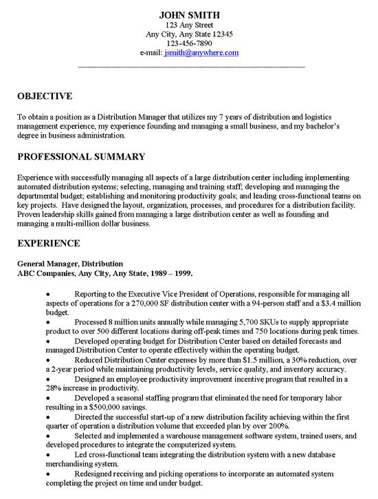 26 Great General Resume Objective Examples by Graphics