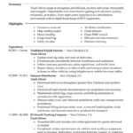 27 Fresh Truck Driver Resume for Images