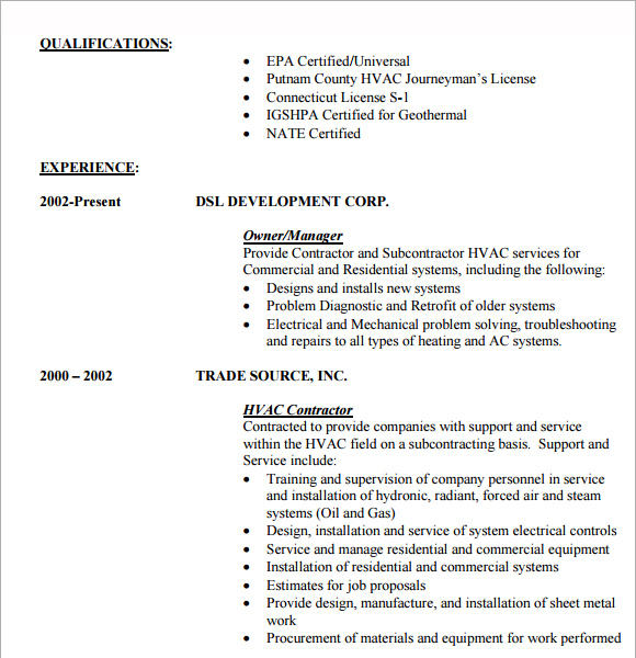 27 Inspirational Entry Level Hvac Technician Resume By Graphics