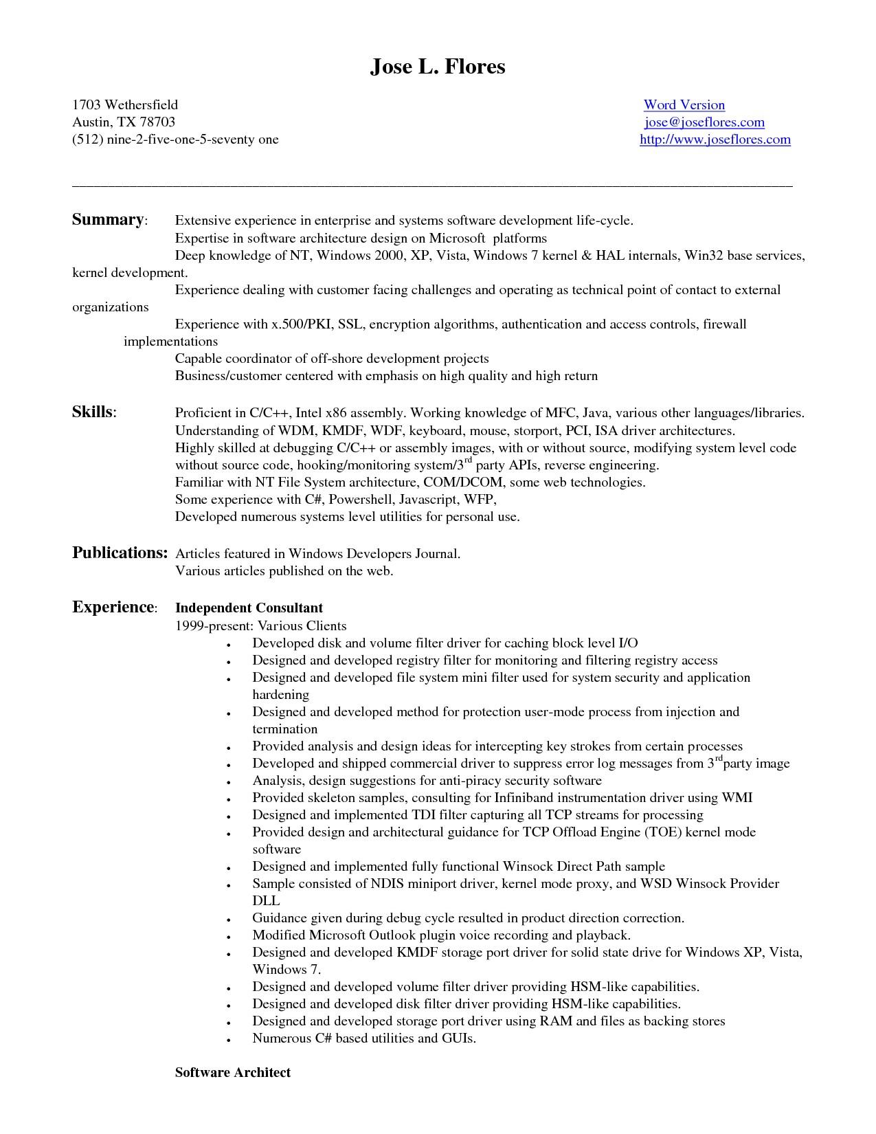 27 Lovely Entry Level Software Engineer Resume by Pictures