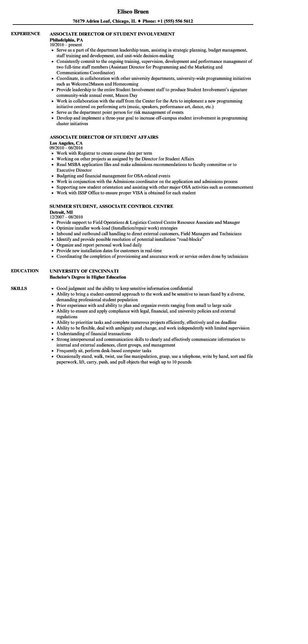 34 Top Associate Degree Resume Sample with Graphics