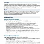 34 Top Restaurant Manager Resume Samples Pdf by Design