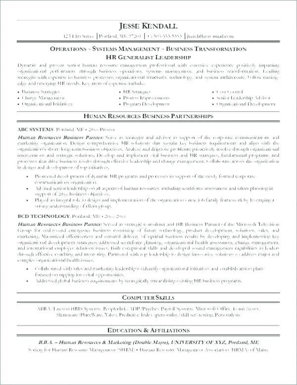 34 Top Sample Hr Generalist Resume with Gallery