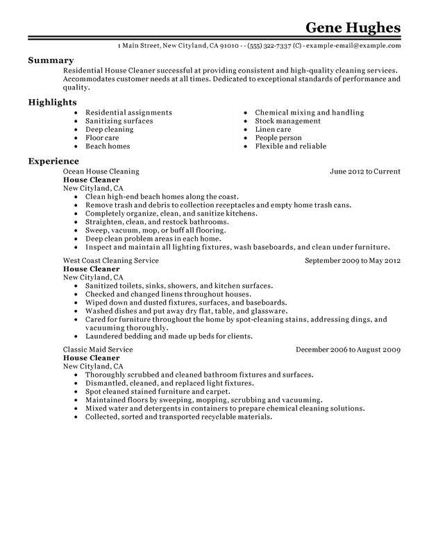 35 Top Resume For Cleaning Job with Images