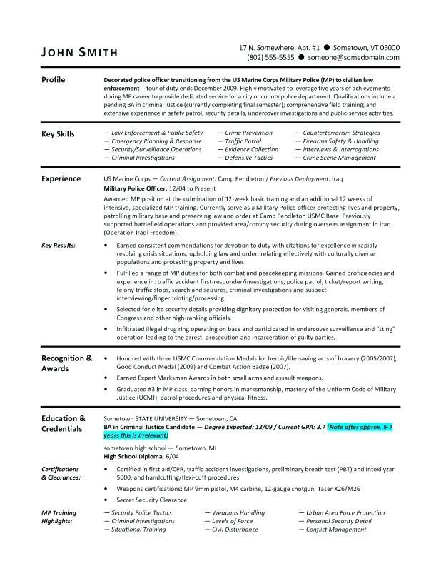 37 Best Military Resume Template Microsoft Word with Pictures