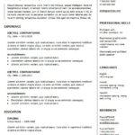 38 Lovely Two Column Resume Template with Ideas