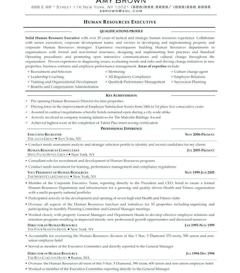 39 Excellent Sample Hr Generalist Resume with Graphics
