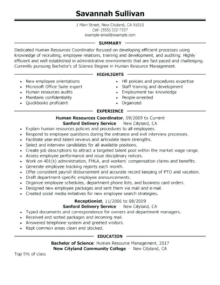 39 Lovely Sample Hr Generalist Resume by Graphics
