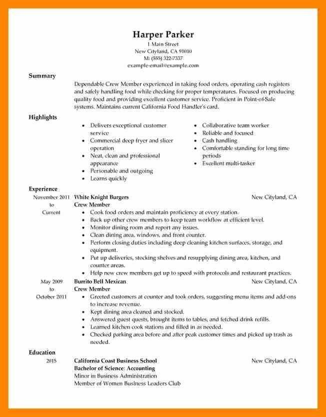 39 Nice Mcdonalds Crew Member Job Description For Resume with Ideas