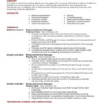 40 Lovely Restaurant Manager Resume Samples Pdf for Gallery
