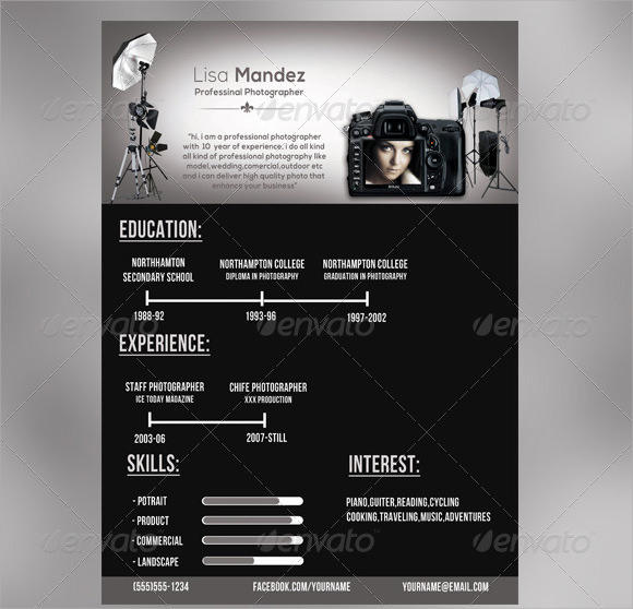 42 Beautiful Photographer Resume Pdf for Ideas