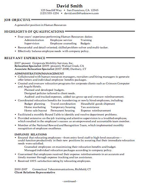 43 Stunning Sample Hr Generalist Resume with Pics