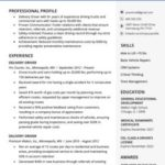 44 Lovely Truck Driver Resume for Design
