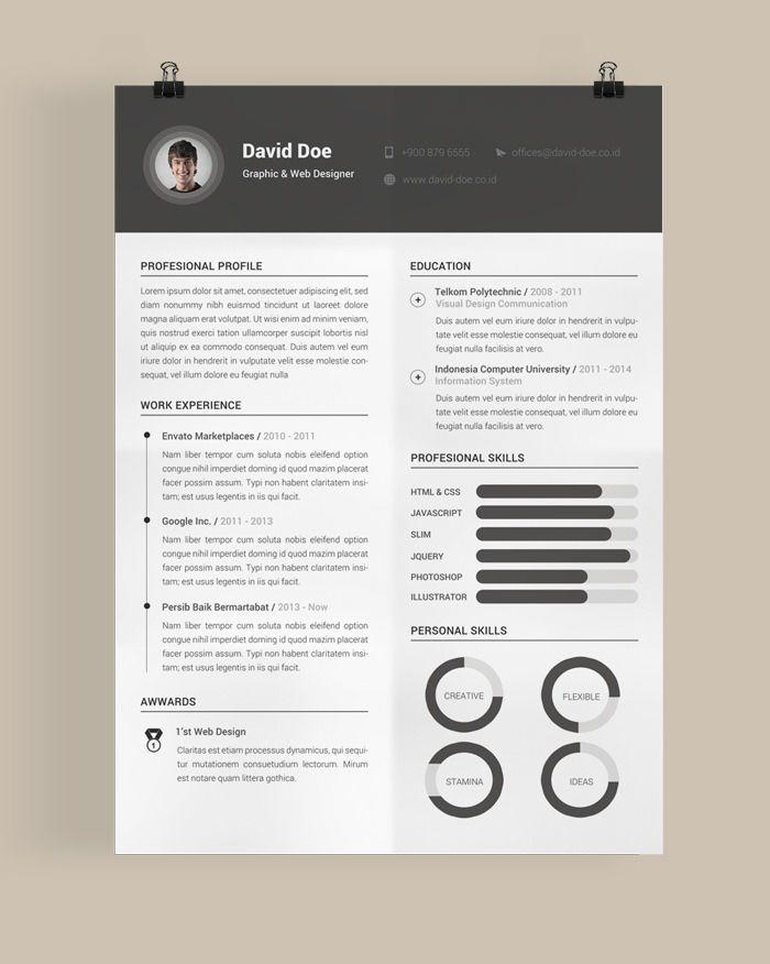 44 New Beautiful Resume Templates Free by Graphics
