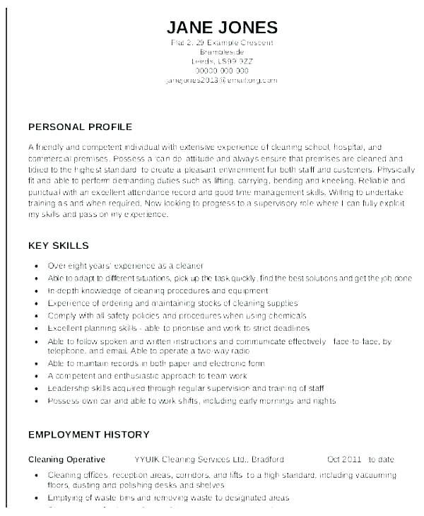 46 New Resume For Cleaning Job by Graphics