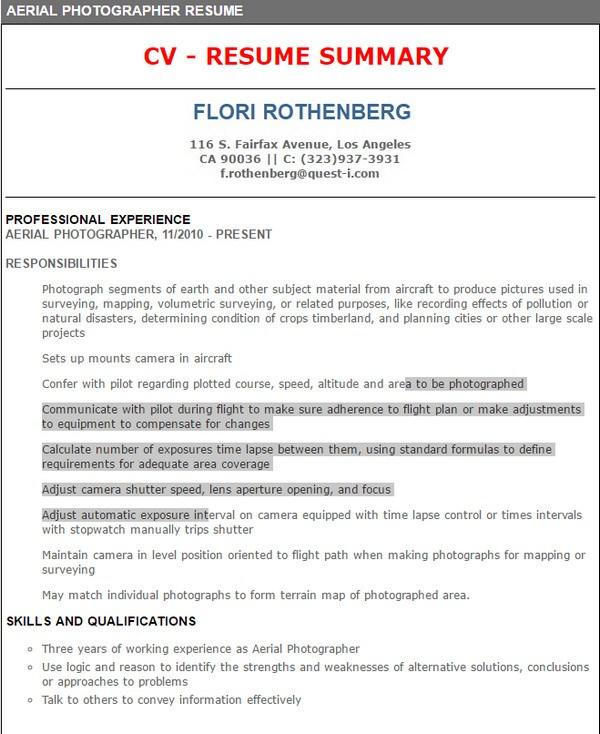 48 Awesome Photographer Resume Pdf by Gallery