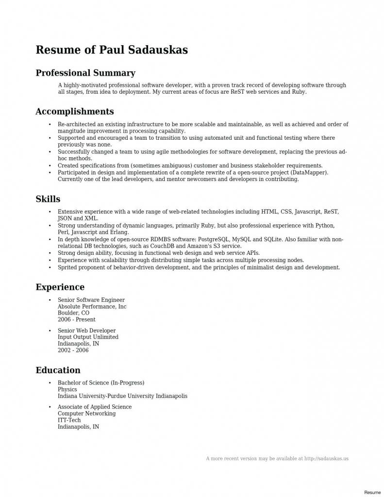 48 Inspirational Entry Level Software Engineer Resume for Images