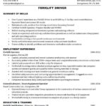 48 Top Forklift Operator Resume for Gallery