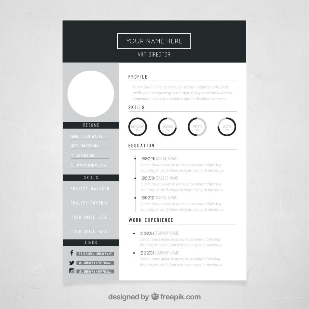 49 Beautiful Blogger Resume Template by Ideas
