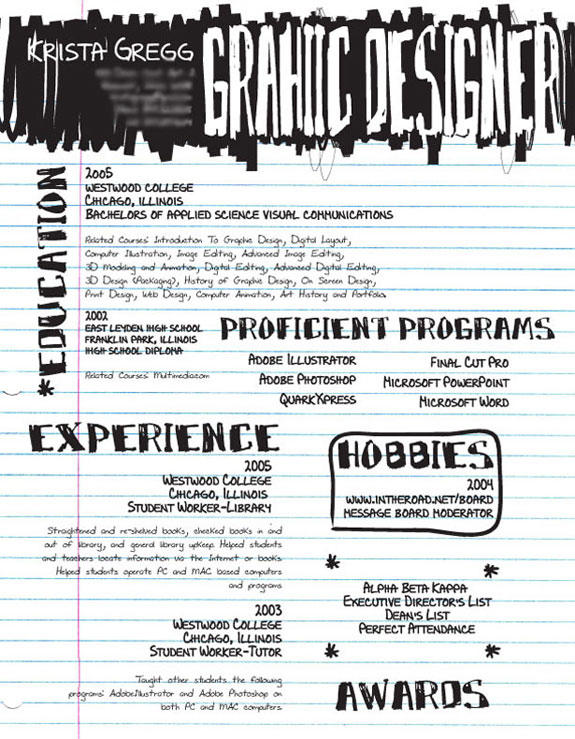 49 Beautiful Handwritten Resume Examples with Ideas