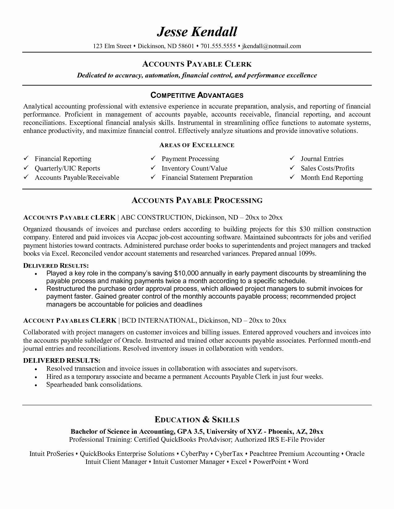 50 Great Accounts Receivable Resume Objective by Design