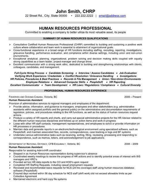 51 Great Hr Resume Examples for Ideas